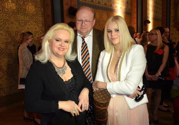 Ornella Štiková s rodiči Foto: