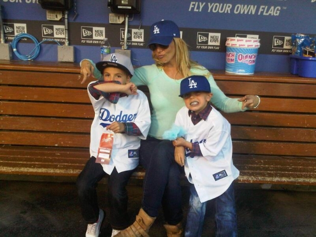 Zpěvačka Britney a její zlatíčka... celá maminka Foto: istagram