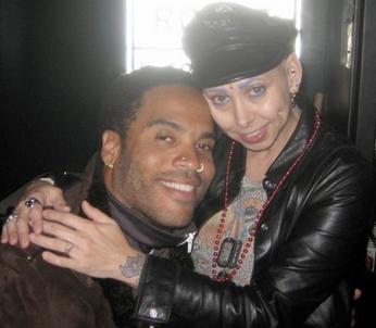 Lenny Kravitz a Elayne Angel Foto: