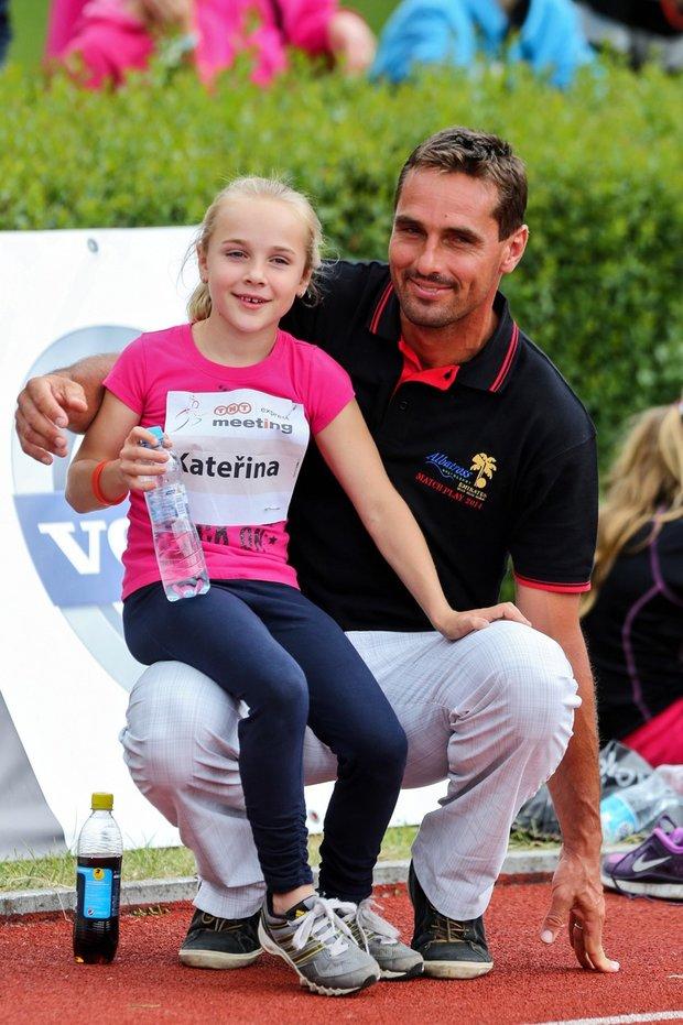 Šebrle s dcerou Kateřinou. Foto:
