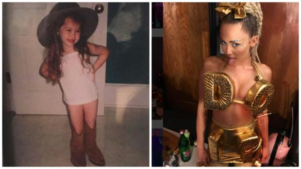 Porovnání Miley před a po Foto: