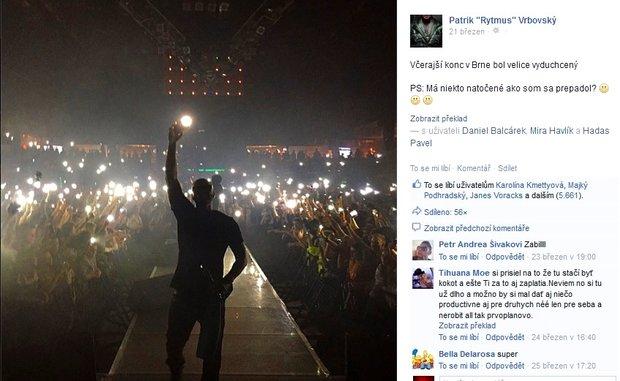 Rytmus se během koncertu propadl do podia, na kterém vystupoval - Obrázek 4 Foto: