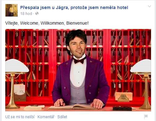 Přespala jsem u Jágra, protože jsem neměla hotel Foto: