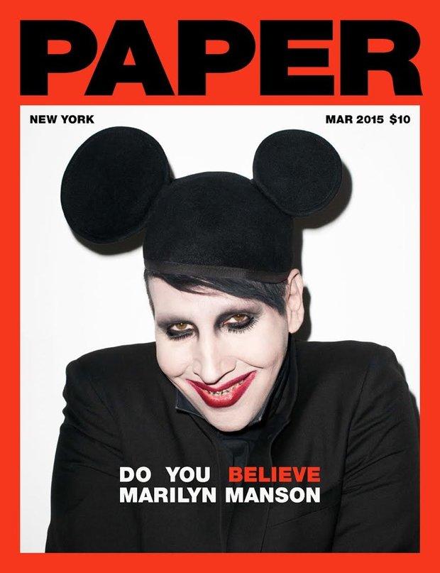 Marilyn Manson na titulce magazínu Paper Foto: