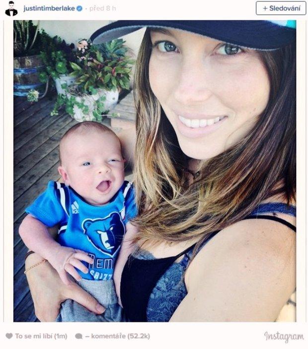 První obrázek malého Silana, syna Justina Timberlaka a Jessicy Biel Foto: