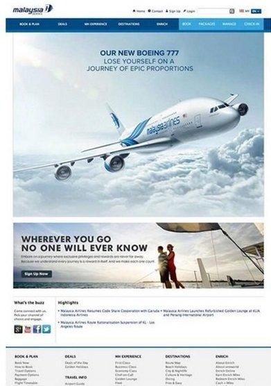 Plakát k nové kampani na Malajské aerolinky