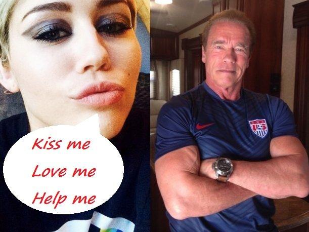 Miley Cyrus spala s Arnoldem - Obrázek 4 Foto:
