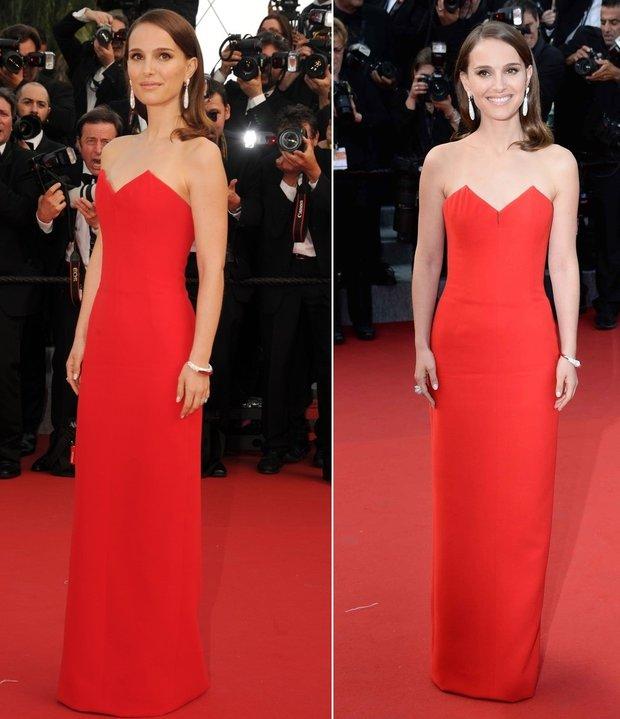 Natalie Portman vsadila na šaty v jednoduchém tube stylu. Foto: