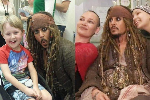Johnny Depp dělá radost nemocným dětem - Obrázek 8 Foto: