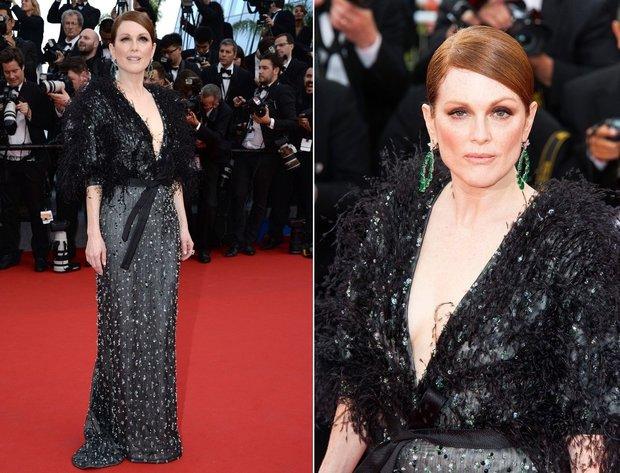 Julianne Moore byla nejoslnivější hvězda na červeném koberci v Cannes. Foto: