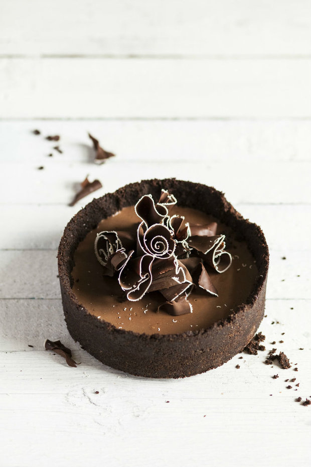Nepečený čokoládový koláč Foto: