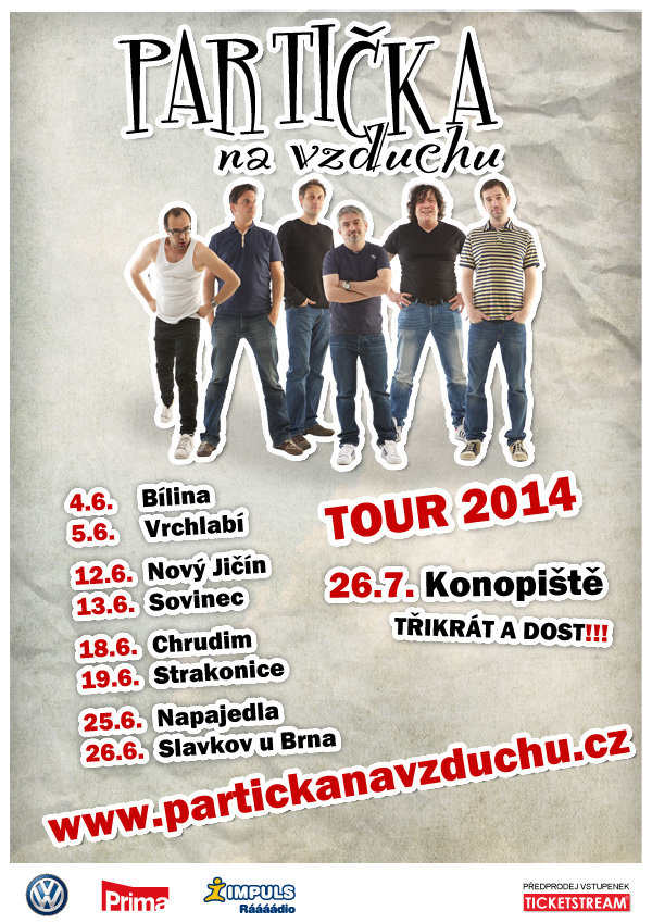 Partička na vzduchu Tour 2014 Foto: partickanavzduchu.cz
